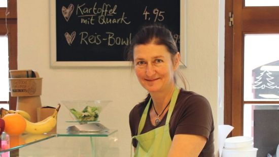 Christine Langhammer im Gartenring-Café