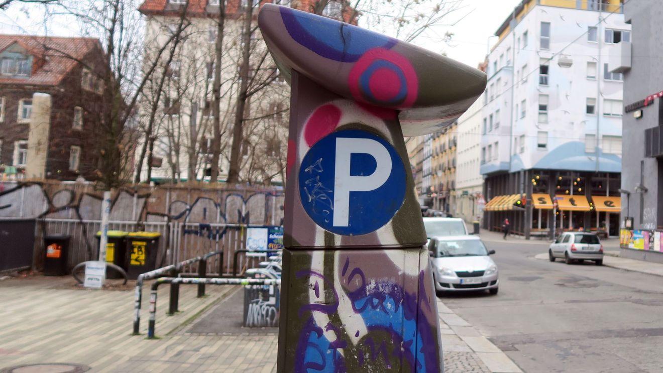 Parkautomat auf der Louisenstraße