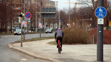 Radweg an der Albertstraße