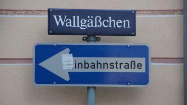 Das Wallgäßchen befand sich vor der ehemaligen Festungsmauer Altendresdens