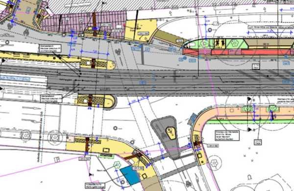 So sieht der Plan für die Kreuzung Bautzner-/Glacisstraße aus.