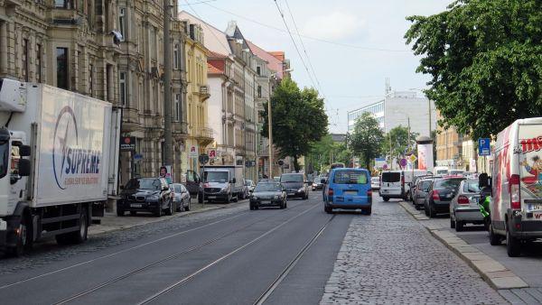 Seit einem Vierteljahrhundert keine Sanierung: die Königsbrücker Straße