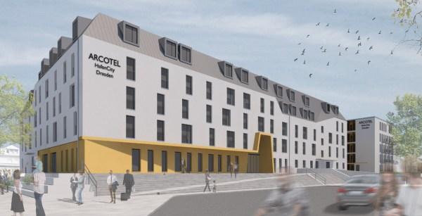 Das 4-Sterne-Hotel wird 183 Zimmer in zwei Gebäuden haben, 5 Seminarräume sind für die Businesskunden geplant. Quelle: USD Immobilien