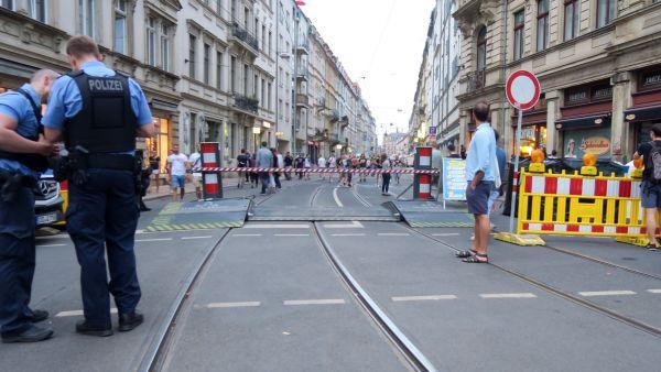 Schranke an der Rothenburger Straße