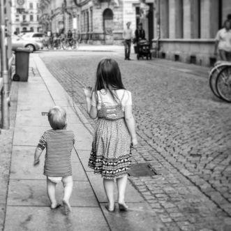 Kids in schwarz-weiß - Foto: Maria