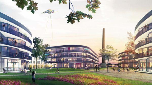 Elbviertel - Visualisierung: Barcode Architecture/Lola Landscape Architects/Dresden