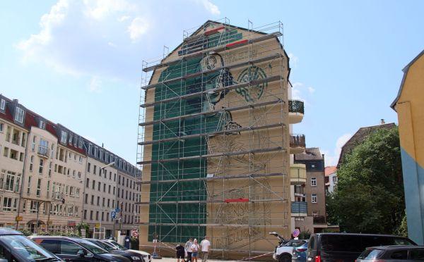 Das Bild haben die Bandits nach Entwürfen von Lars P. Krause an die Wand gebracht.