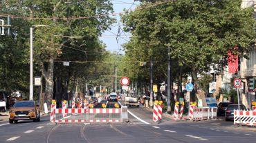 Noch bis Montag früh ist die Bautzner für die Straßenbahnen gesperrt.