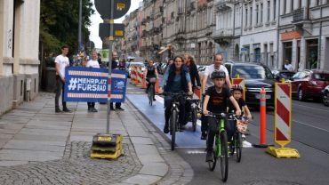 ADFC-Demo am Bischofsweg - Foto: Nina