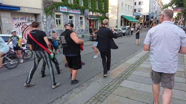"""Videodreh für """"Atomfried"""" auf der Alaunstraße"""