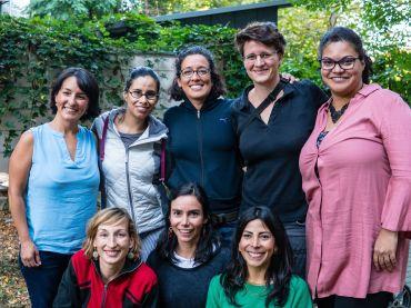 Marolyn, Daniela, Gabriela, Tamara, Patrícia, Maxi, Mariana, Soledad. Foto: Bluoverda