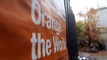 Kunsthof wird orange