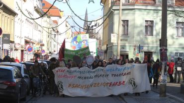 Fridays for future auf der Alaunstraße