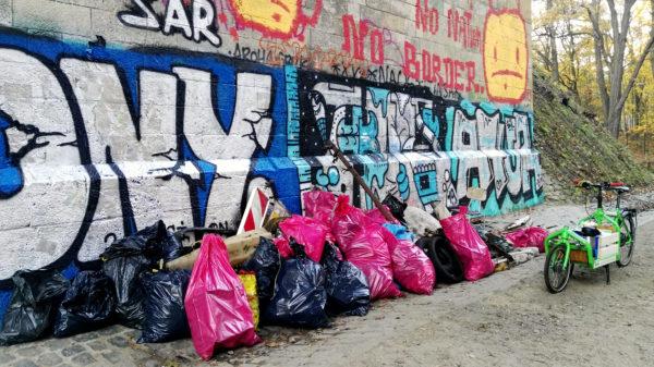 So viel Müll hat sich nach drei Stunden angesammelt.