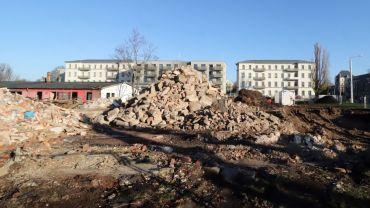 Baustelle an der Kreuzung zwischen Stauffenbergallee und Königsbrücker Straße
