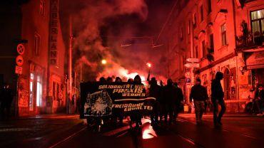 Lärm-Demo durch die Neustadt. Foto: Protestfotografie Dresden
