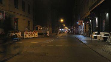 Louisenstraße am Sonntagabend