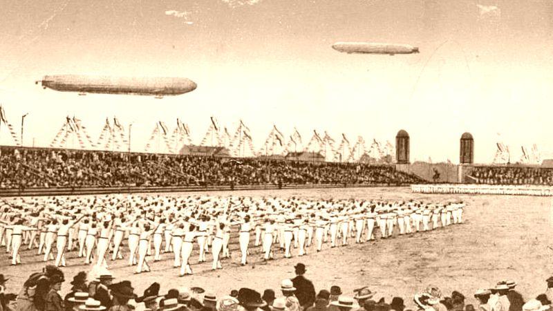 Turnfest zu Leipzig - Postkarte von 1913