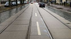 Gleise zwischen Stauffenbergallee und Bischofsweg werden erneuert.