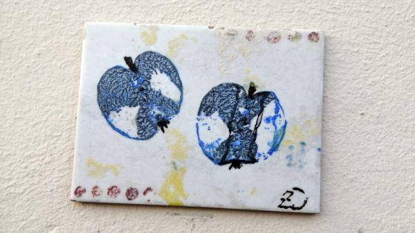 Apfelkunst an der Bautzner Straße