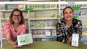 Stadtspiel-Chefin Anja Gena und Lokalschenken-Erfinderin Beatrix Creutzburg