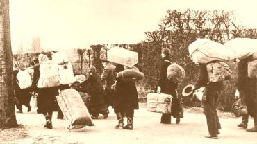 Flüchtlingstrek im Jahre 1945
