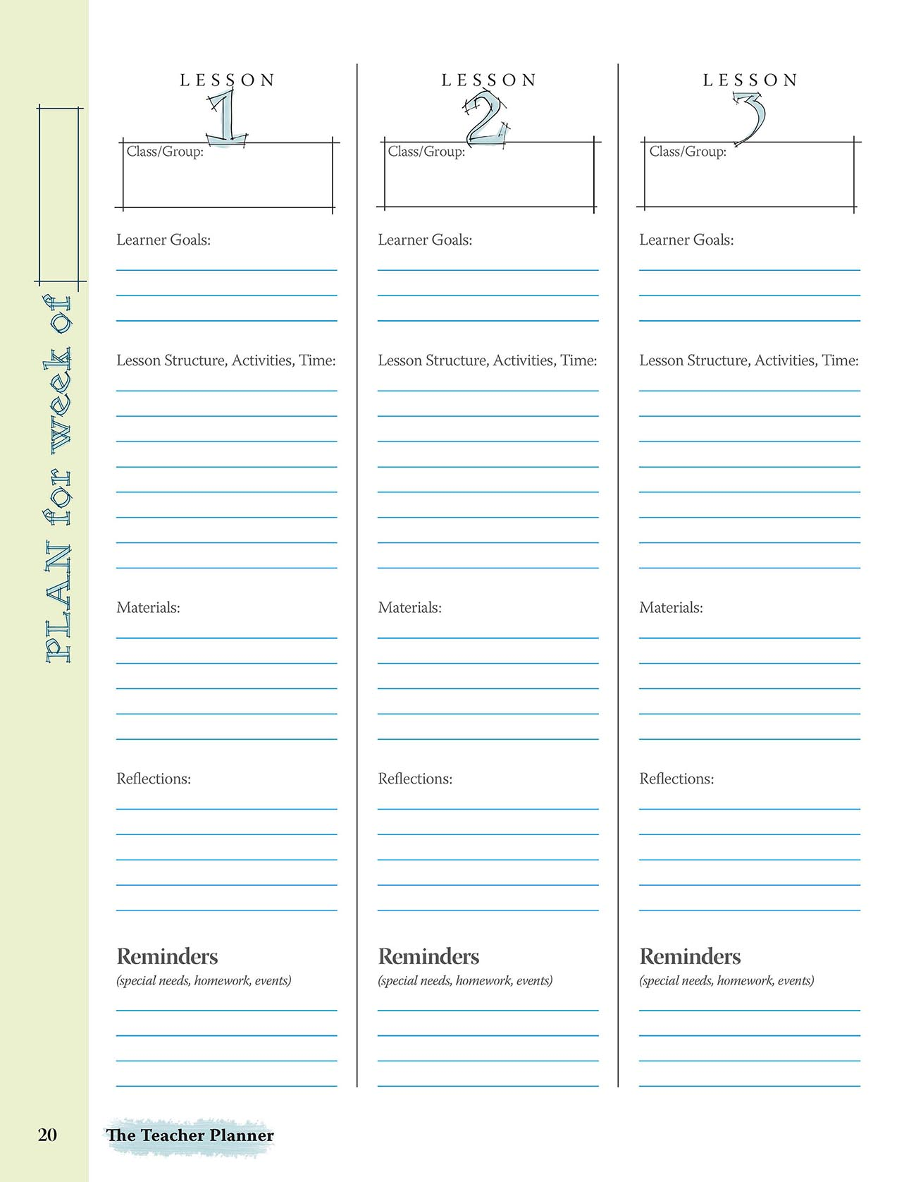 Teacher Planner Design