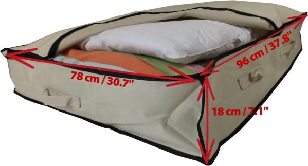 Size of XL Underbed Storage Bag