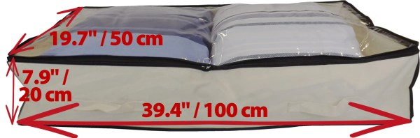 Underbed Bag Clear Lid Dimensions