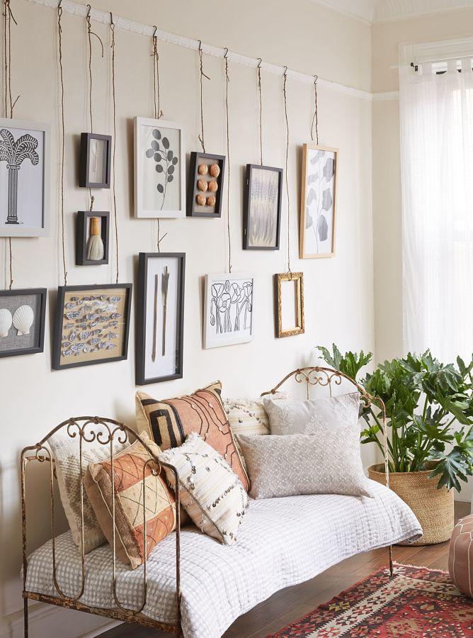 Como decorar as paredes sem fazer furos