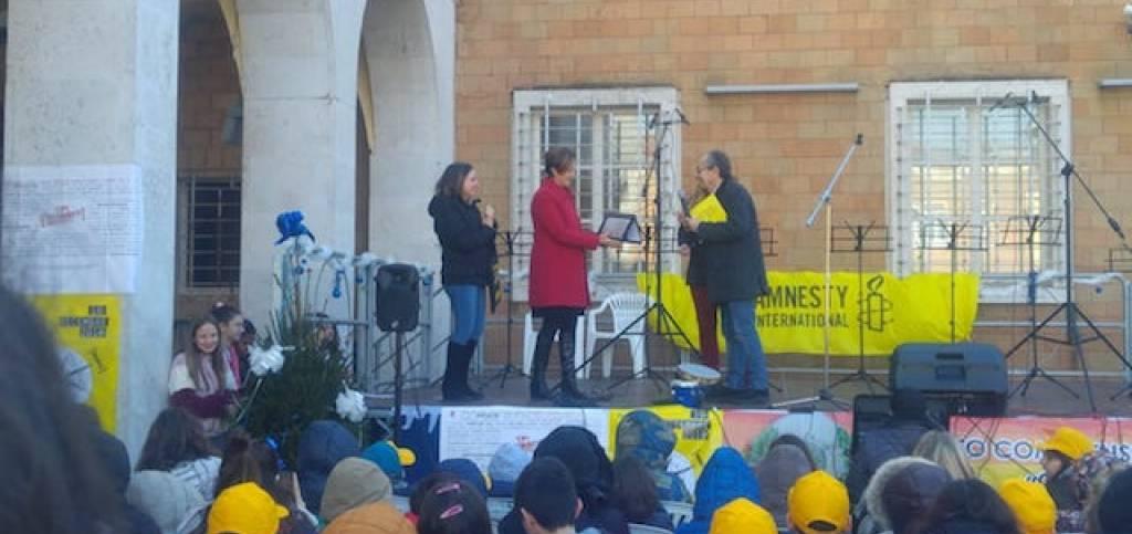 A Deborah D'Auria una menzione di Amnesty International-Italia