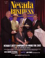 Nevada Business Magazine July 2003 View Issue