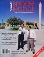 Nevada Business Magazine February 1993 View Issue
