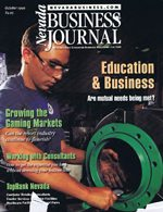 Nevada Business Magazine October 1999 View Issue