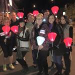 Lisa Escobar, walked with family and friends on November 7 during the Leukemia & Lymphoma Society's Light the Night Walk in honor of her mom.
