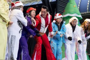 Local celebrities are supporting the not-for-profit Opportunity Village during their annual holiday fundraiser, the Las Vegas Great Santa Run