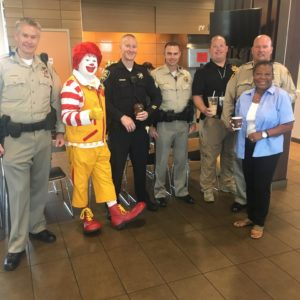 McDonald's restaurants in Southern Nevada and members of local law enforcement teamed together to host the annual Coffee with a Cop event on July 25, 2017, from 8 a.m. to 10 a.m.