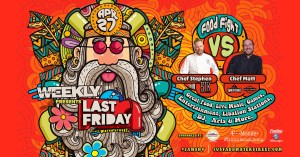 """Last Friday, Just Add Water Street continues to """"Foster Community Flow"""" by inviting local businesses to promote local live music, food trucks, foodie pop ups, local crafts, artists, and more."""
