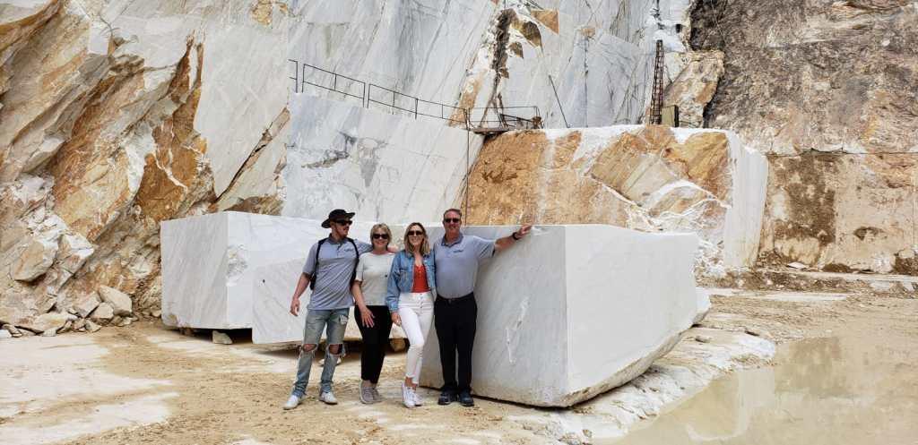 (From left) Jake, Lelia, Katie and Frank Friedlander in Carrara, Italy.