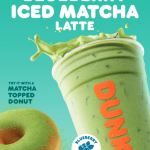 Blueberry Matcha Latte and Matcha Topped Donut-471d0988