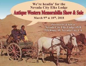 ANTIQUE WESTERN MEMORABILIA SHOW March 8 & 9, 2019