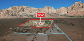 Aerial of Bonnie Springs Ranch property