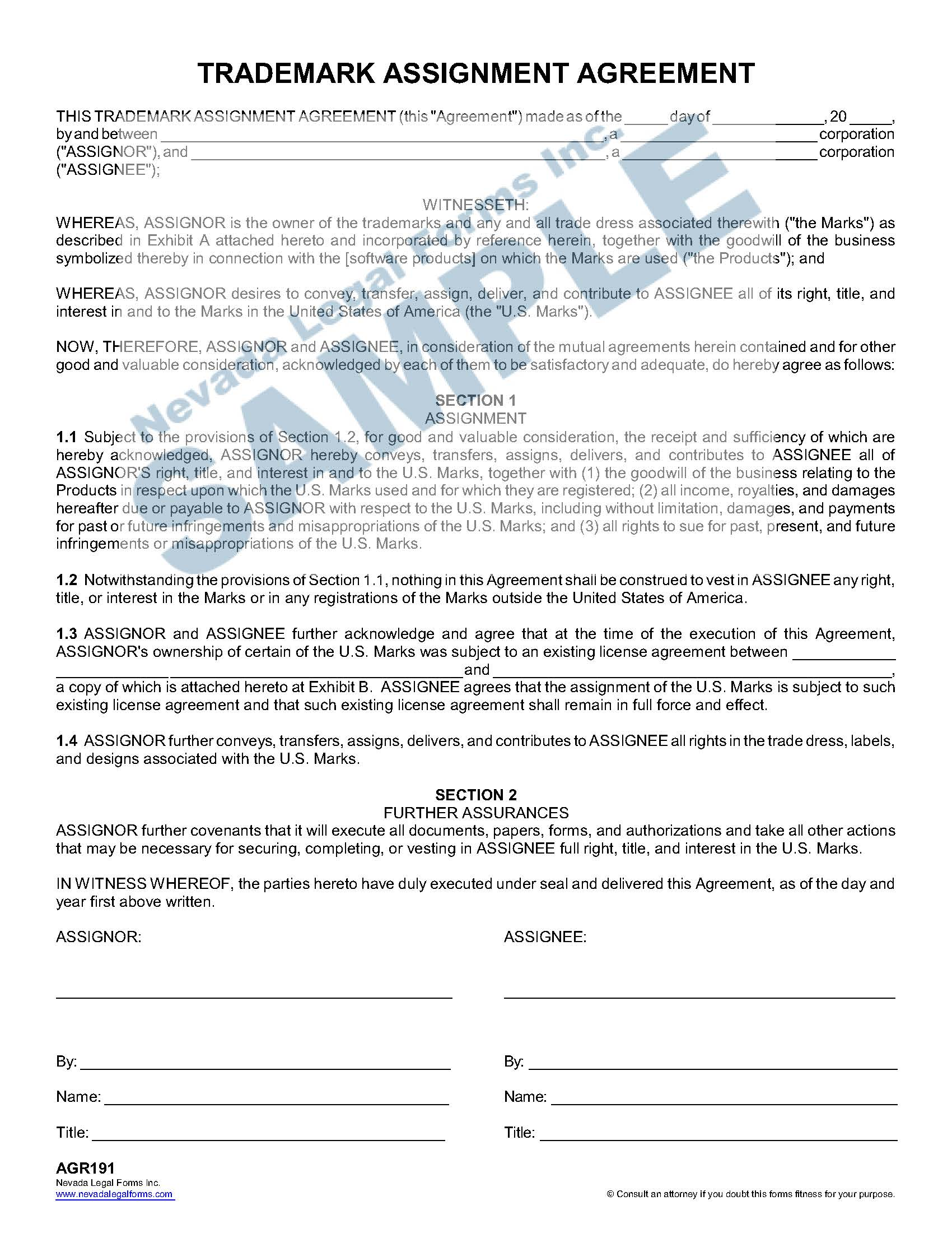 Trademark Assignment Agreement