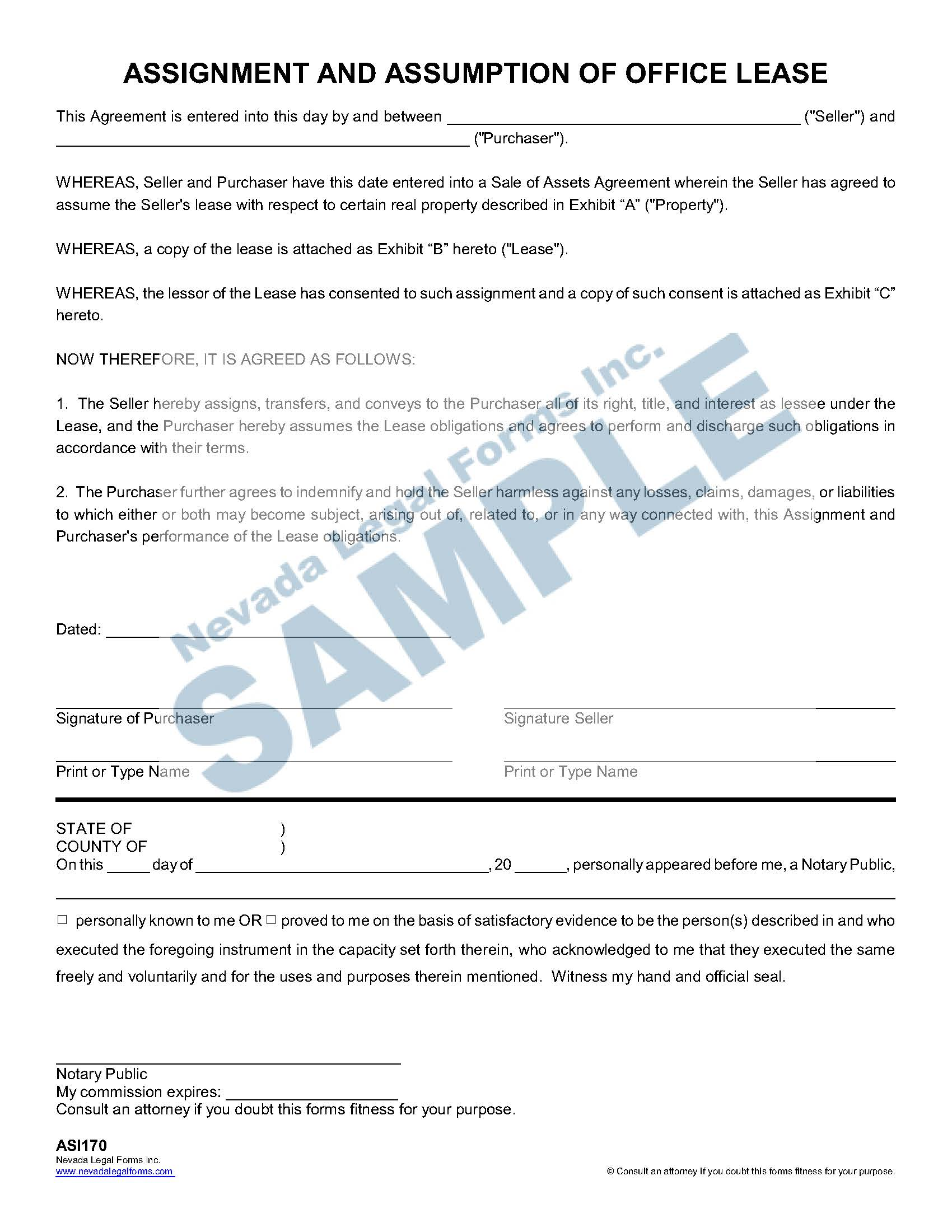 Assignment And Assumption Of Office Lease
