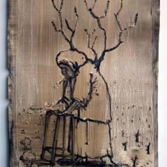 Miss December: Granny Monsanto // Oil on Paper // 60 x35 cm // 2014