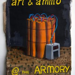 Paul McCarthy designs the new Armory Pavilion // Acrylic on Paper // 60 x35 cm // 2014