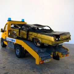 Guggenheim Globetrotters World Tour: Iraq // Toy truck and car // 8 x 12 x 6 inches // 2011