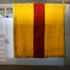 Electric Corporate Comfort Blanket: Barnett_Newman @ No_one_is_afraid_of_colour_theroy.com // Electric Blanket, Acrylic Paint // 230 x 180 cm // 2010