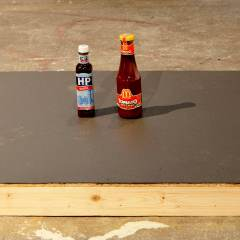 7-7-9-11 // Wood, Acrylic, McDonalds Tomato Sauce, HP Brown Sauce // 1 x 0.7 x 0.3 m // 2013