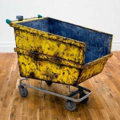Skip Shopping // Wood, Steel, Aluminium, Wheels, Acrylic Paint // 1.4 x 1.2 .5 m // 2009